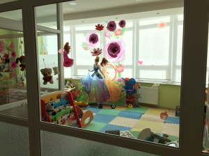 The new play room in the brand new hem/onc floor!