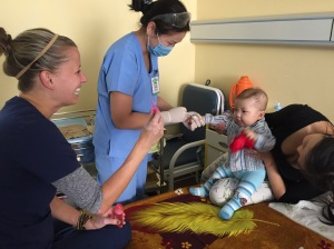 This little cutie was so happy playing with the bubbles that he did not even notice the procedure that was taking place.